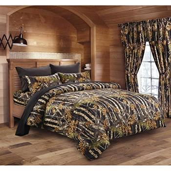 The Woods© Black Licensed Bed Sheets - Full