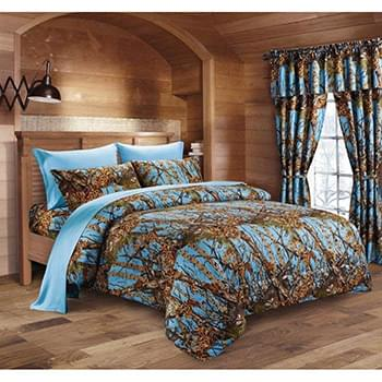 The Woods© Powder Blue Licensed Bed Sheets - Full