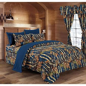 The Woods© Navy Licensed Bed Sheets - Full