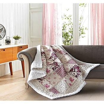 English Garden Quilted Sherpa Throw