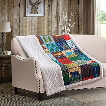 Lake and Lodge Quilted Sherpa Throw