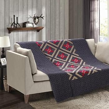 Alabama Star Patchwork Quilted Throw