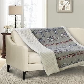 Adah Quilted Sherpa Throw