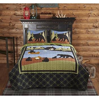 Bear Lake Printed Quilt Set