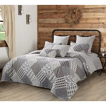 Charming Grays Quilt Set