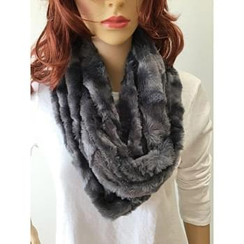 Brushed Slate Infinity Scarf