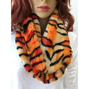 Tiger Skin Infinity Scarf