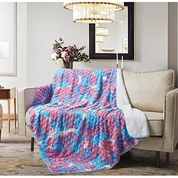 Cotton Candy Sherpa Throw