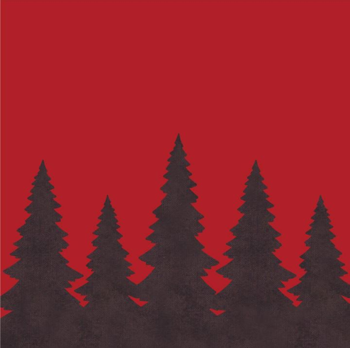 Red Pines Accent Pillow