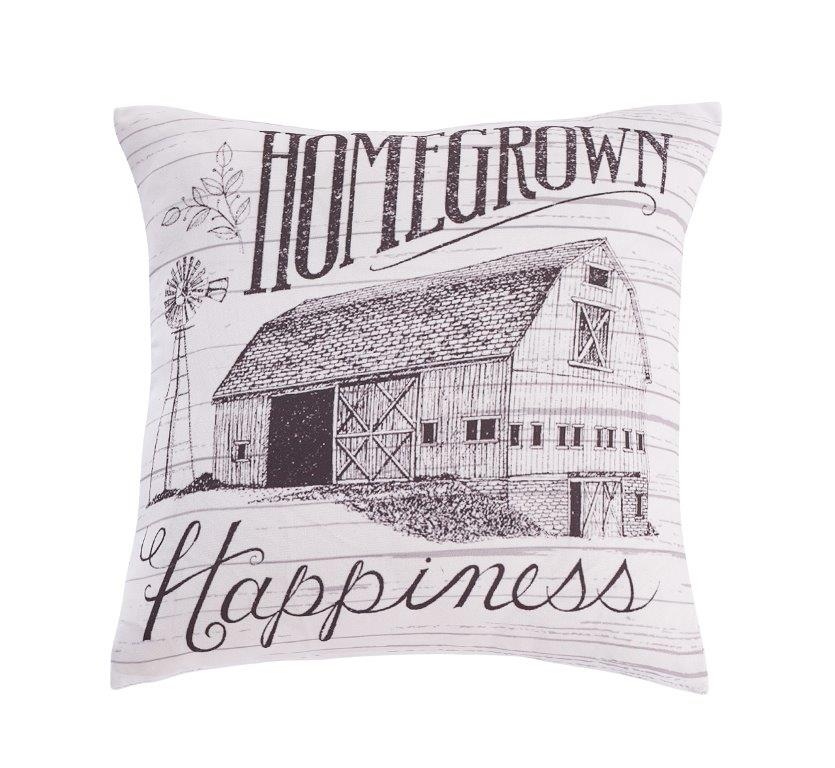 Homegrown Happiness Barn Accent Pillow