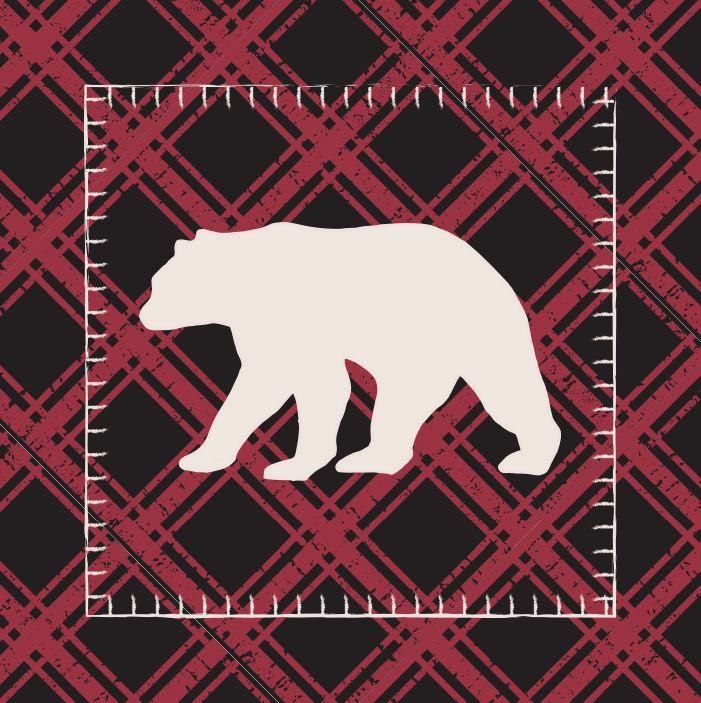 Diamond Bear Accent Pillow