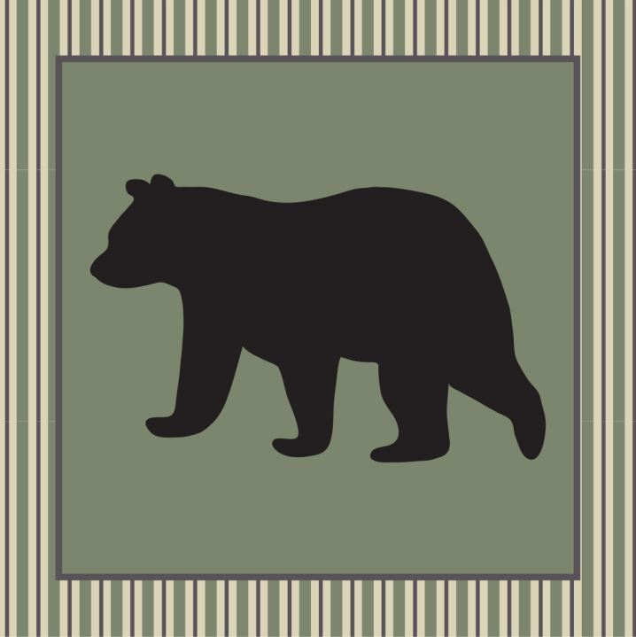 Bear Star Accent Pillow