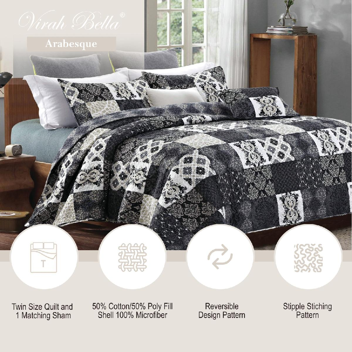 Arabesque Printed Quilt Set