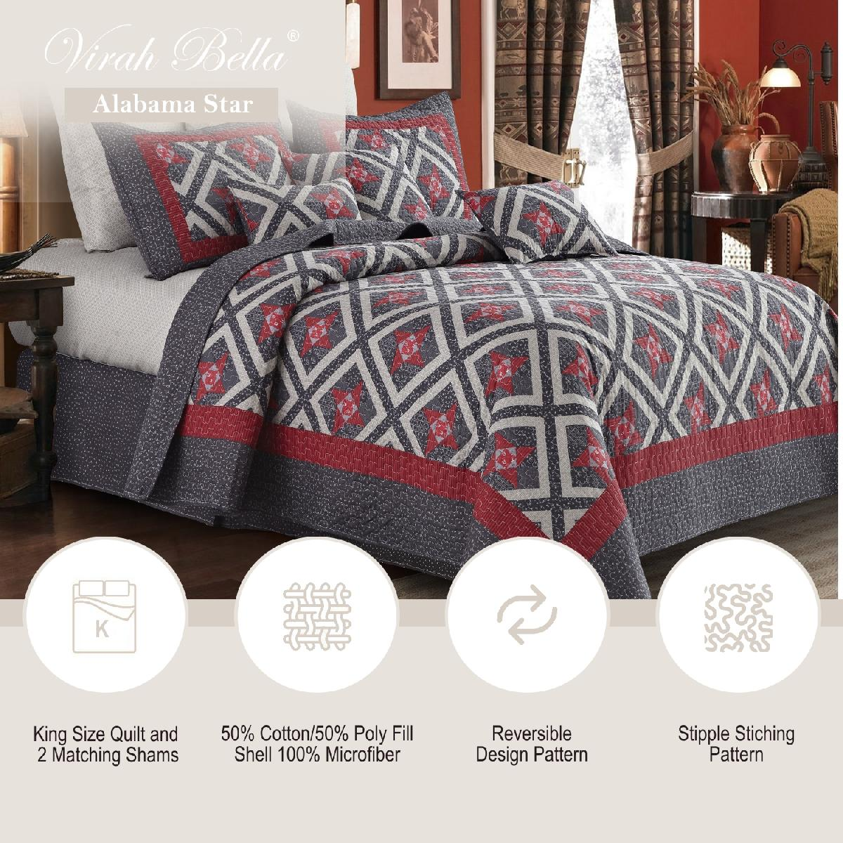 Alabama Star Quilt Set