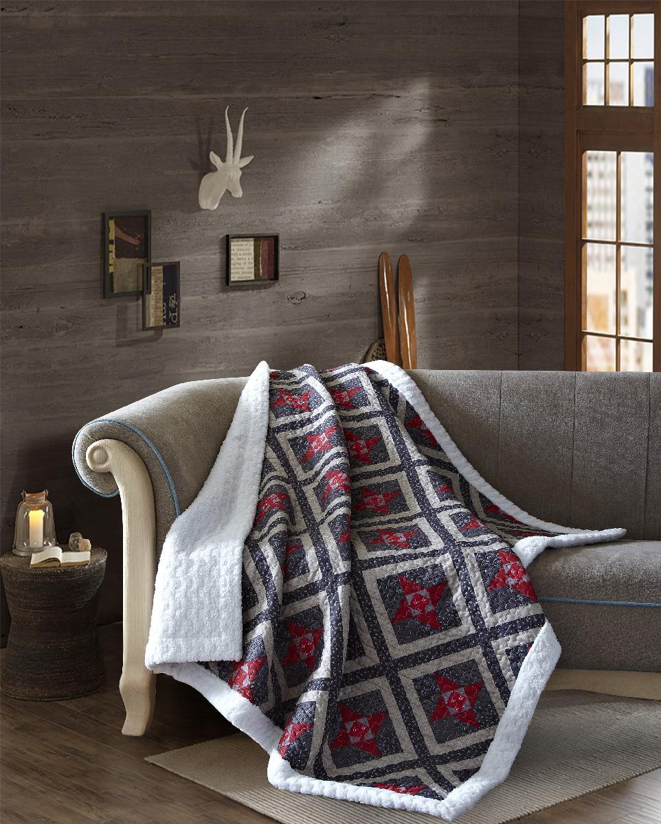 Alabama Star Quilted Sherpa Throw