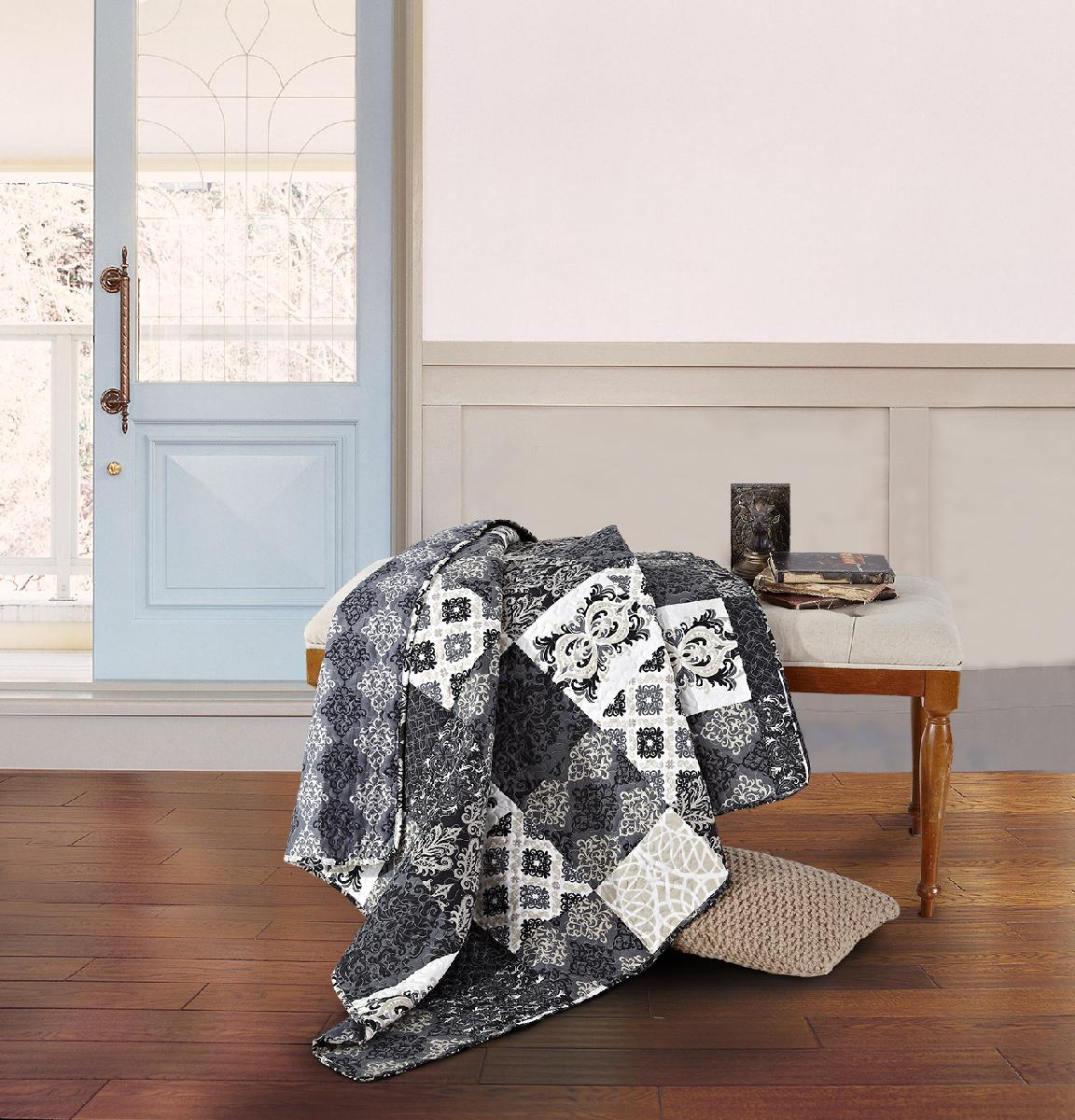 Arabesque Quilted Throw
