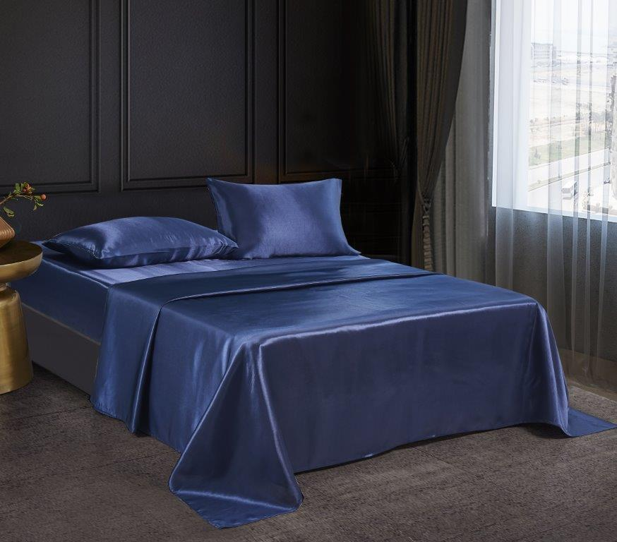 Silky Sheets Collection - Navy